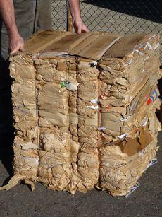 Cardboard bale © Planet Ark