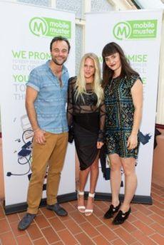 Ambassadors Gyton Grantley, Laura Enever & Lisa Mitchell © MobileMuster