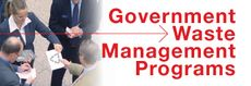 Government Waste ManagementPrograms Banner