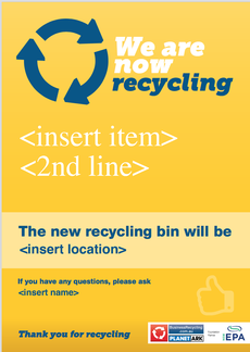 We are now recycling [item] poster © Zo Zhou
