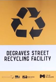 Degraves Street Recycling Facility sign