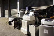 Pile of e-waste