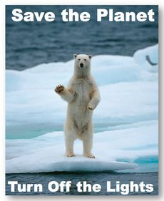 Turn Of the Lights Polar Bear meme