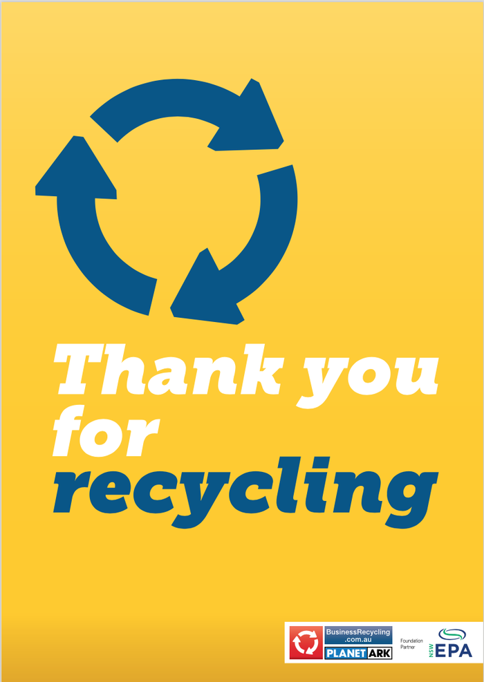 photograph regarding Printable Recycling Signs named Signage and Posters - Small business Recycling