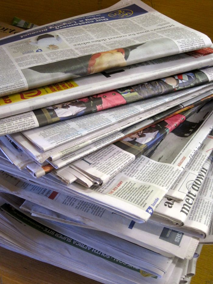 Newspaper stack © Planet Ark
