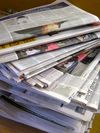 Newspaper stack © Planet Ark
